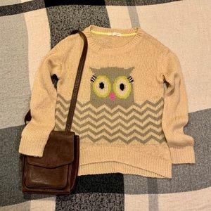 4/$25 • Rewind :: Knit Crewneck Sweater w/Owl